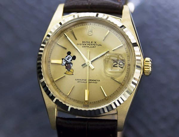 Men's 18k Solid Gold Rolex Oyster Mickey Dial (4072) - 2