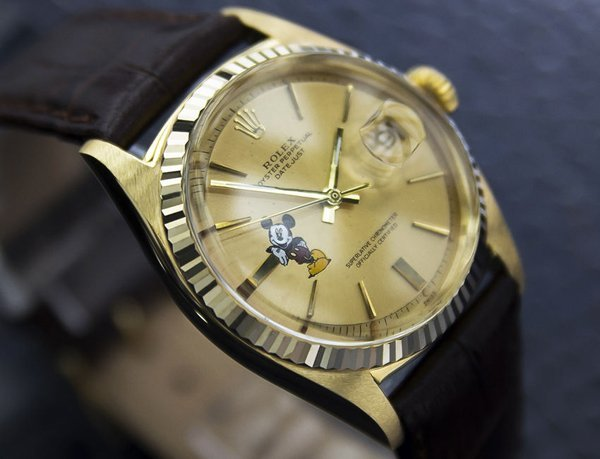 Men's 18k Solid Gold Rolex Oyster Mickey Dial (4072) - 3