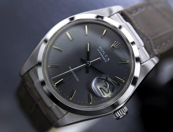 Men's Vintage Rolex Oysterdate Precision 6694 Grey Dial