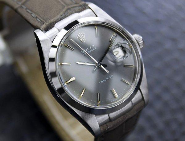 Men's Vintage Rolex Oysterdate Precision 6694 Grey Dial - 3