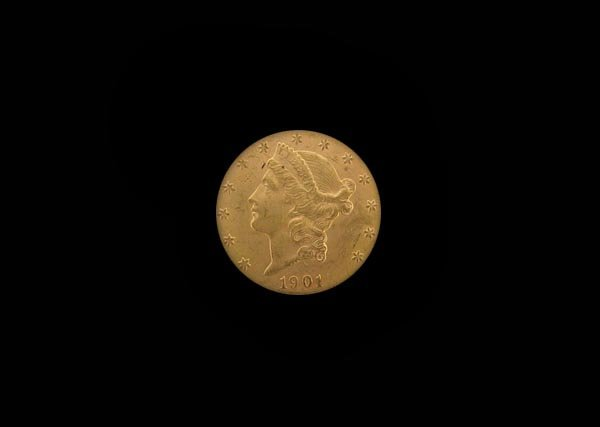 5736: 1901-S $20 US Gold Coin, COLLECTORS' ITEM!!