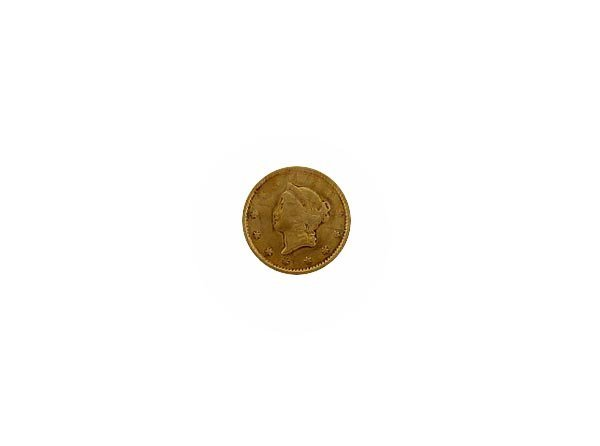 5739: 1851 $1 US Gold Coin, COLLECT!
