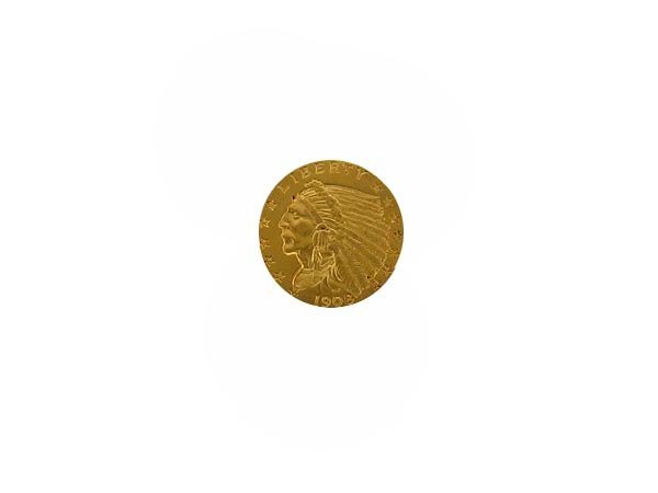 5740: 1908 $2.5 US Indian Gold Coin, COLLECTORS' ITEM!!