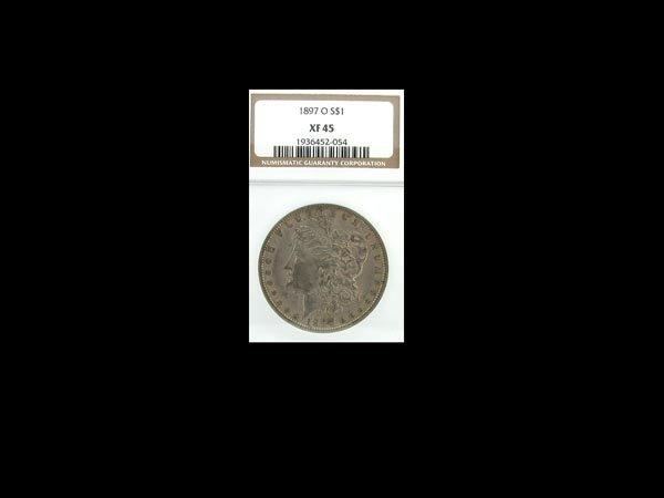 5744: GOV: 1897-O XF45 Morgan Dollar Coin, COLLECTABLE!