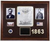 6604: GOV: Abraham Lincoln Signed Military Commission,