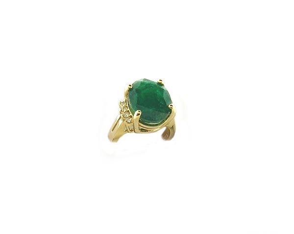 7: APP.: $8.9K, 14 kt. Gold, 8.05CT Emerald and Diamond
