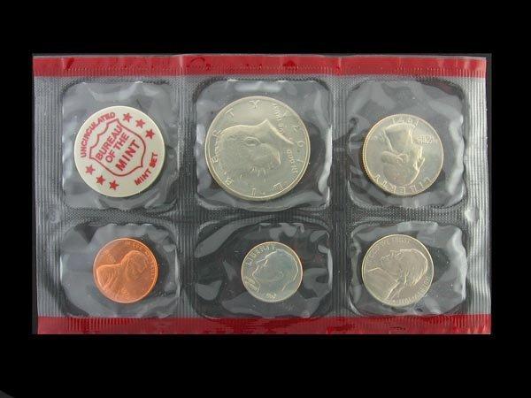 12: GOV: 1971 Uncirculated Coin Set Coin, COLLECTABLE!!