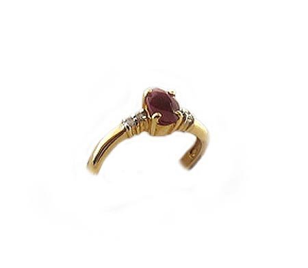16: 14 kt. Gold, Ruby and Diamond Ring, INVEST!