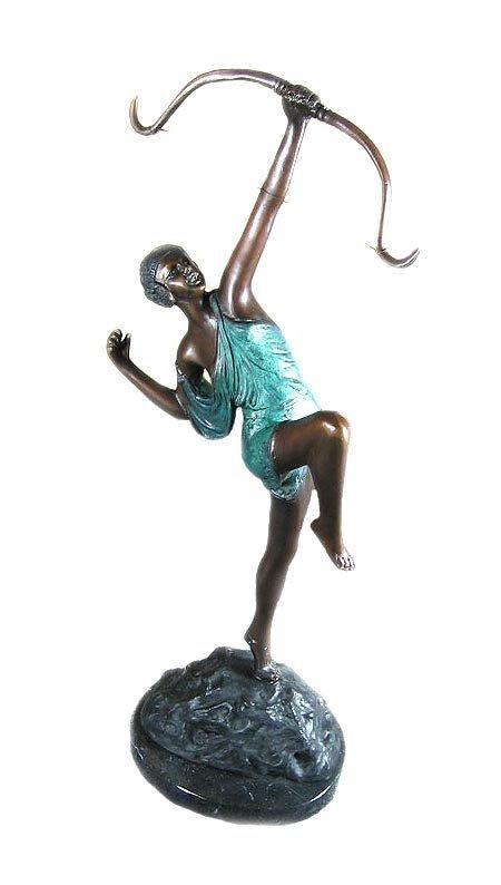 "19: GOV: Suberb Quality Bronze: Girl Bronze, 18"" x 7"" x"