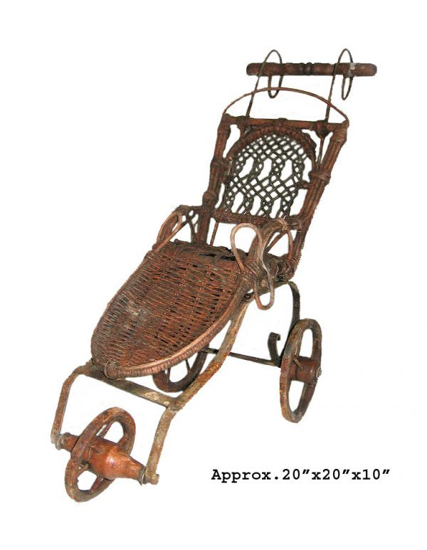 """26: GOV: Antique Style Baby Buggy, 20"""" x 20"""" x 10"""", INV"""