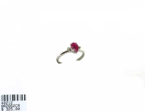 254: .86CT Ruby and .03CT Diamond Ring, INVESTORS LOOK!