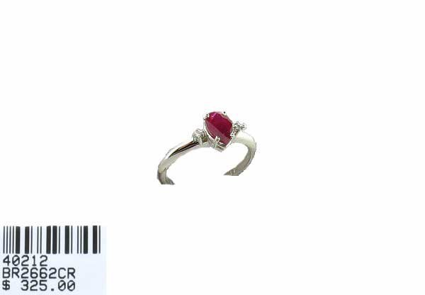 263: .86CT Ruby and .03CT Diamond Ring, INVEST!