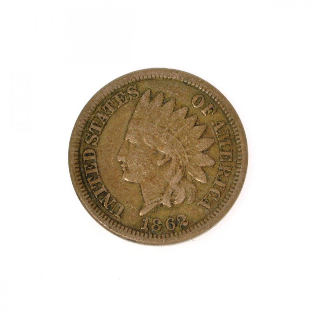 Rare 1862 Indian Cent Coin