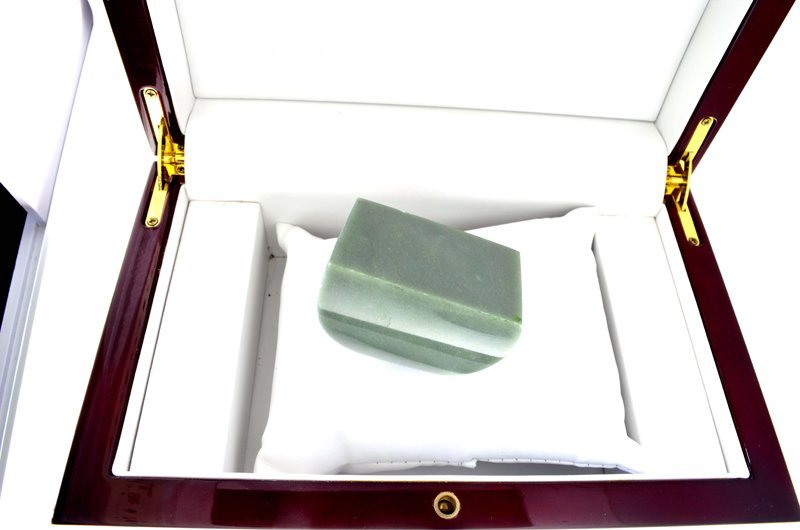 APP: 8.9k 813.00CT Rectangle Cut Green Guatemala Jade