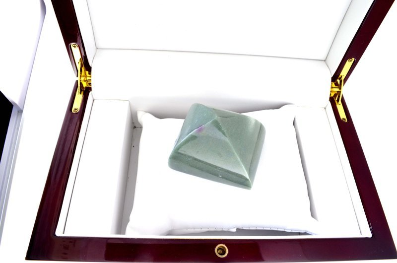 APP: 8.9k 813.00CT Rectangle Cut Green Guatemala Jade - 2