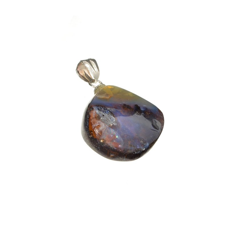 16.70CT Boulder Opal Sterling Silver Pendant