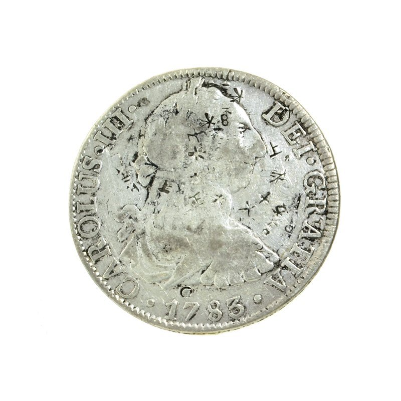 1783 Extremely Rare Eight Reales American First Silver