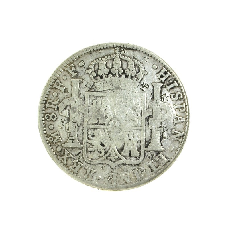 1783 Extremely Rare Eight Reales American First Silver - 2
