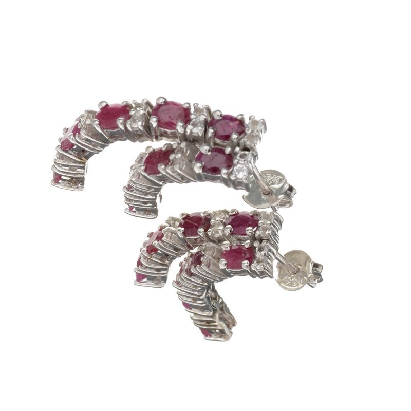 APP: 2.8k Fine Jewelry 3.08CT Ruby And Colorless Topaz