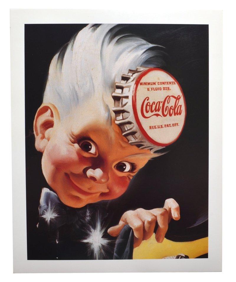 Rare Vintage Coca Cola Advertising Poster (16'' x 20'')