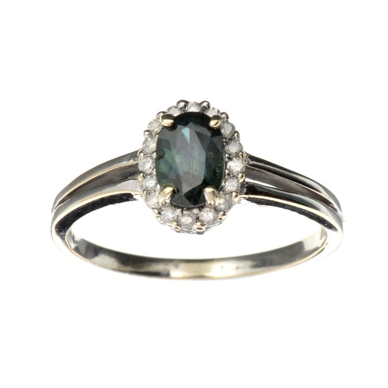 APP: 2k Fine Jewelry 14kt White Gold 1.00CT Blue