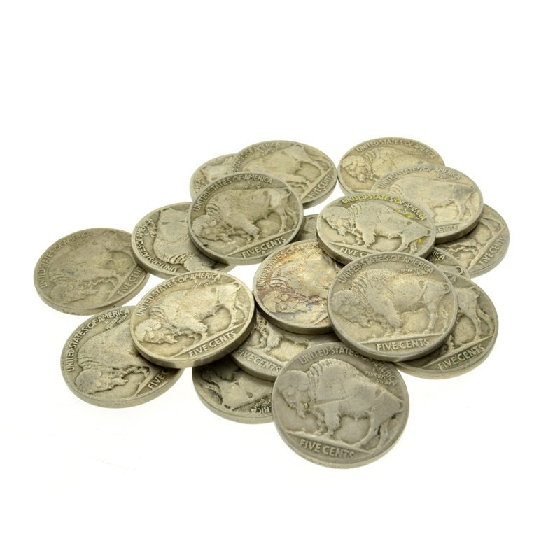 (20) 1913 - 1938 Buffalo Nickels Coin - 2