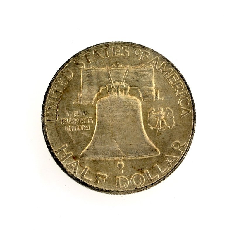 1953-D Franklin Liberty Bell Half Dollar Coin - 2