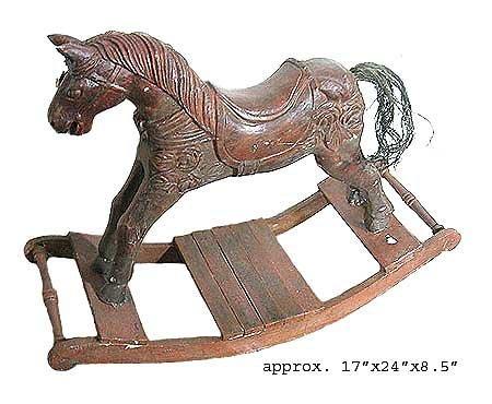 1011: GOV: Antique Style Rocking Horse, 17'' x 24'' x 8