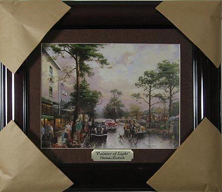 1016: THOMAS KINKADE - Gorgeous, Framed Calendar Print,