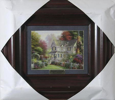 1012: THOMAS KINKADE - Double Matted, Museum Framed Cal