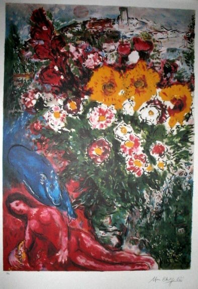 1014: CHAGALL Litho - Les Soucis, INVESTMENT!!