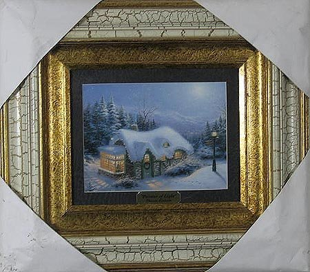 1024: THOMAS KINKADE - Double Matted, Museum Framed Cal