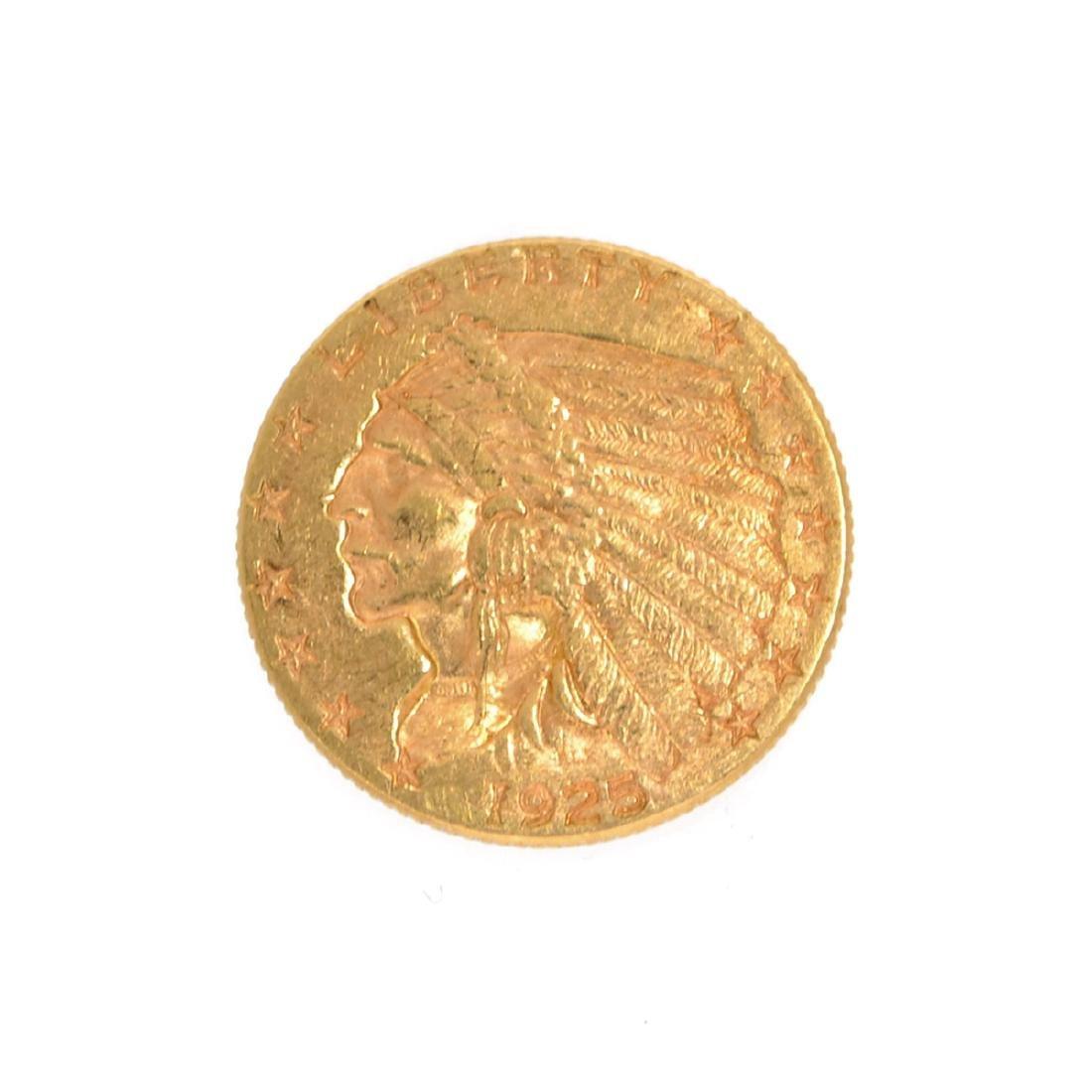 *1925-D $2.5 U.S. Indian Head Gold Coin (DF)