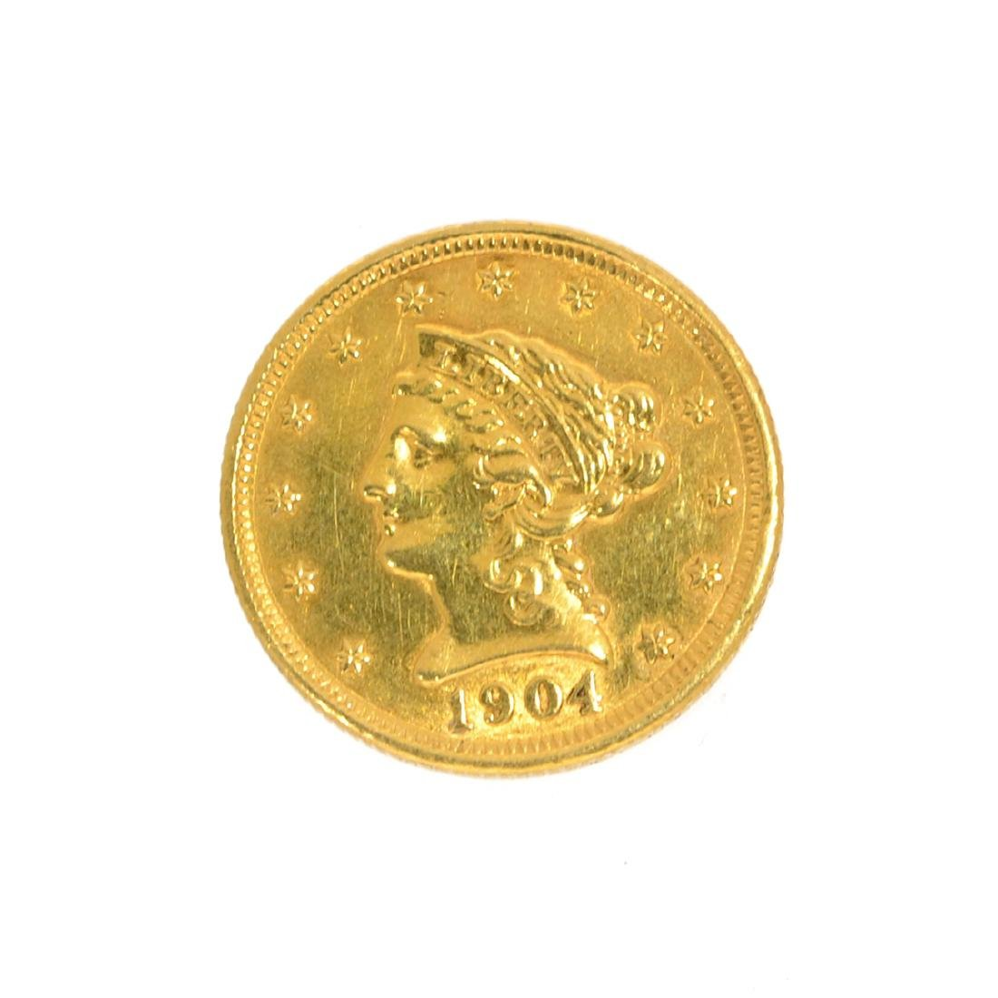 *1904 $2.5 U.S. Liberty Head Gold Coin (DF)