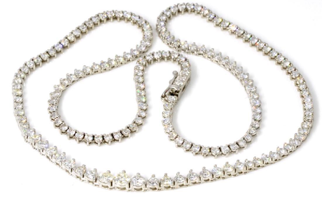APP: 23.5k *6.42CT 18 kt. White Gold, Diamond Tennis