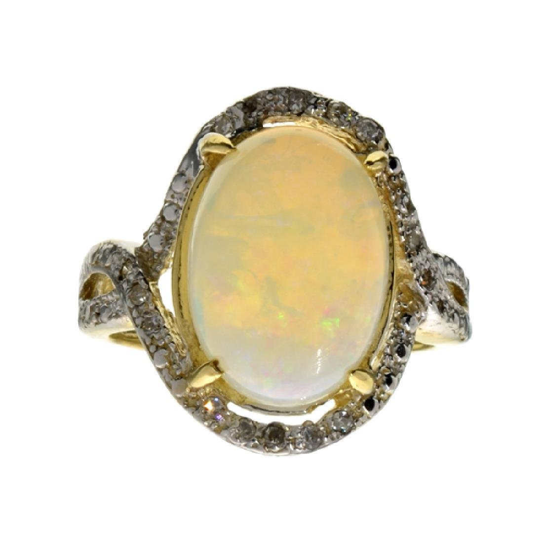 APP: 3.1k 14 kt. Yellow/White Gold, 2.83CT Opal And