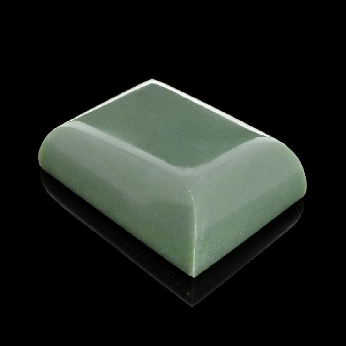 APP: 8.1k 678.00CT Rectangle Cut Green Guatemala Jade