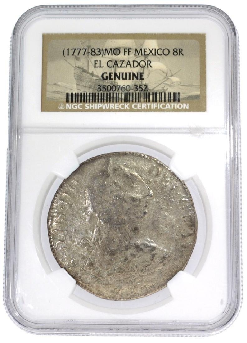 1777-83 MO FF Mexico 8 Reale El Cazador NGC Genuine