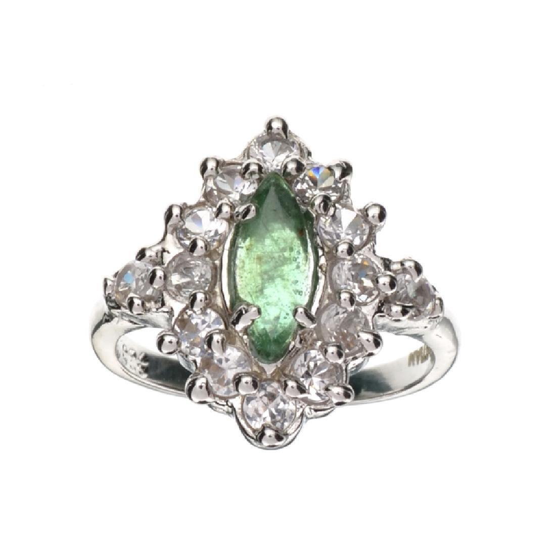 APP: 1.1k Fine Jewelry Designer Sebastian 0.34CT Green