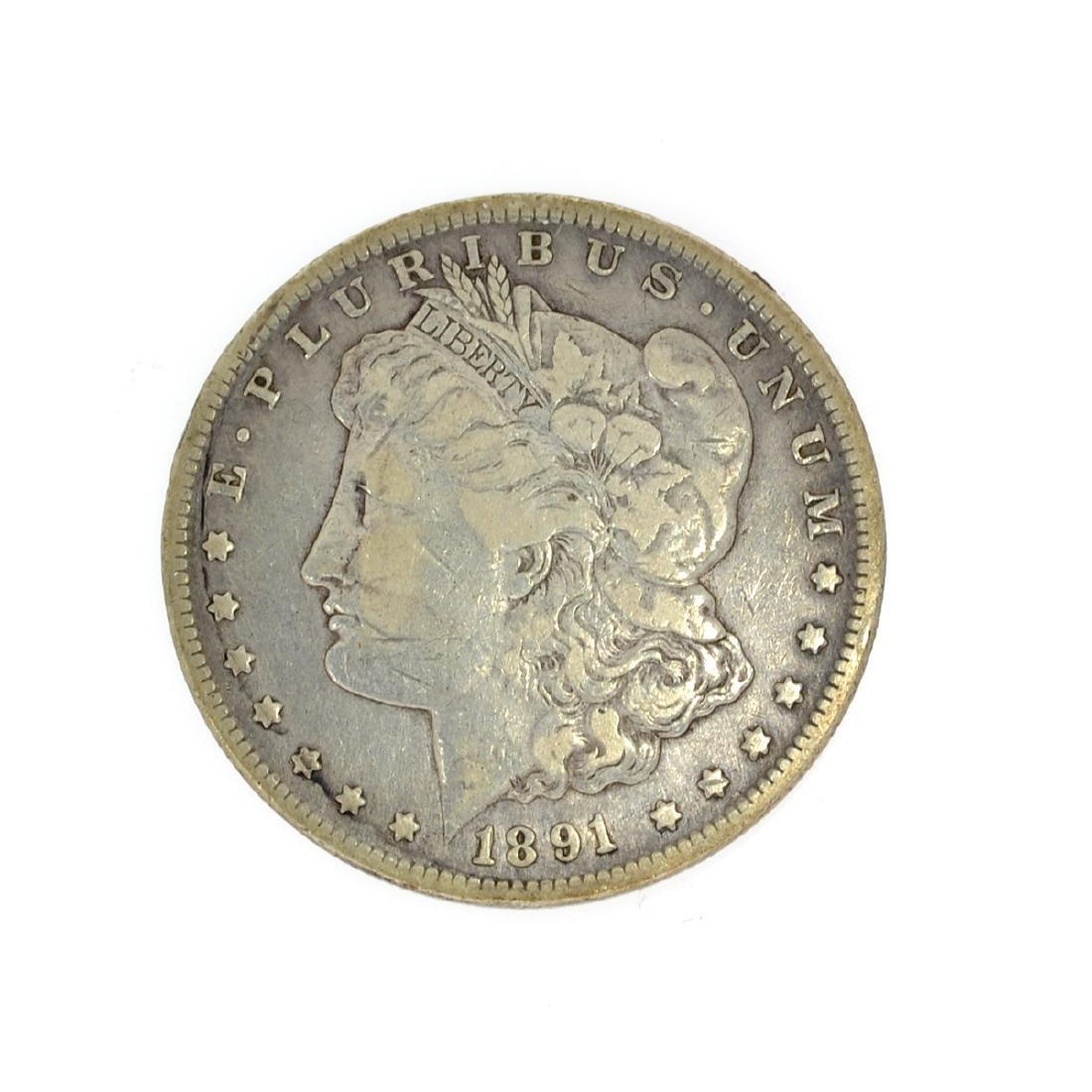Rare 1891-CC Morgan Dollar Coin