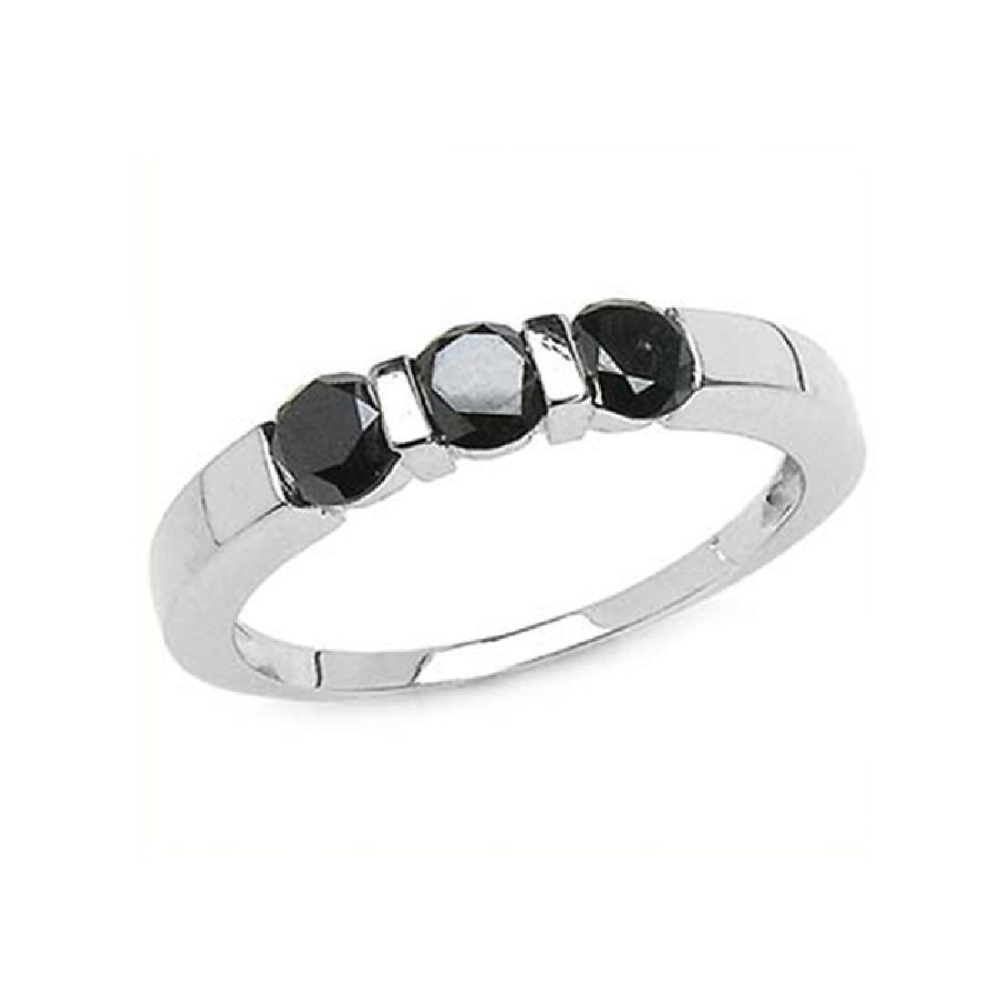 *Fine Jewelry 1.24CT Round Cut Black Diamond And
