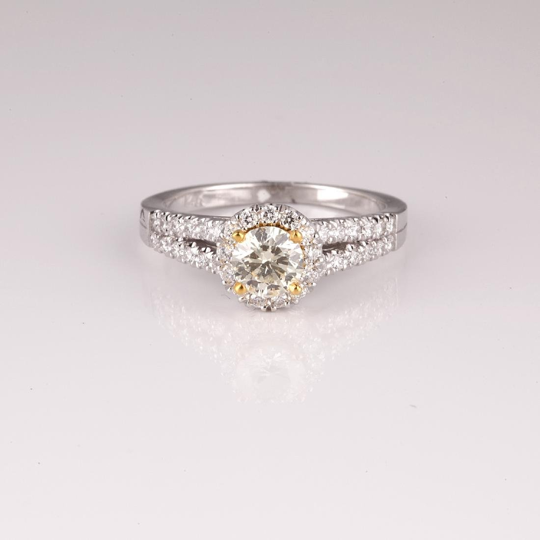 APP: 7.9k *14 kt. Two Tone Gold, 1.02CT Round Cut