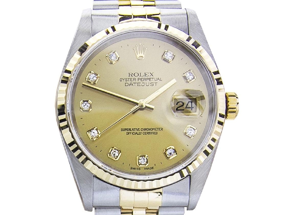 *Men's Rolex 16233 Quickset 18K Automatic Sapphire