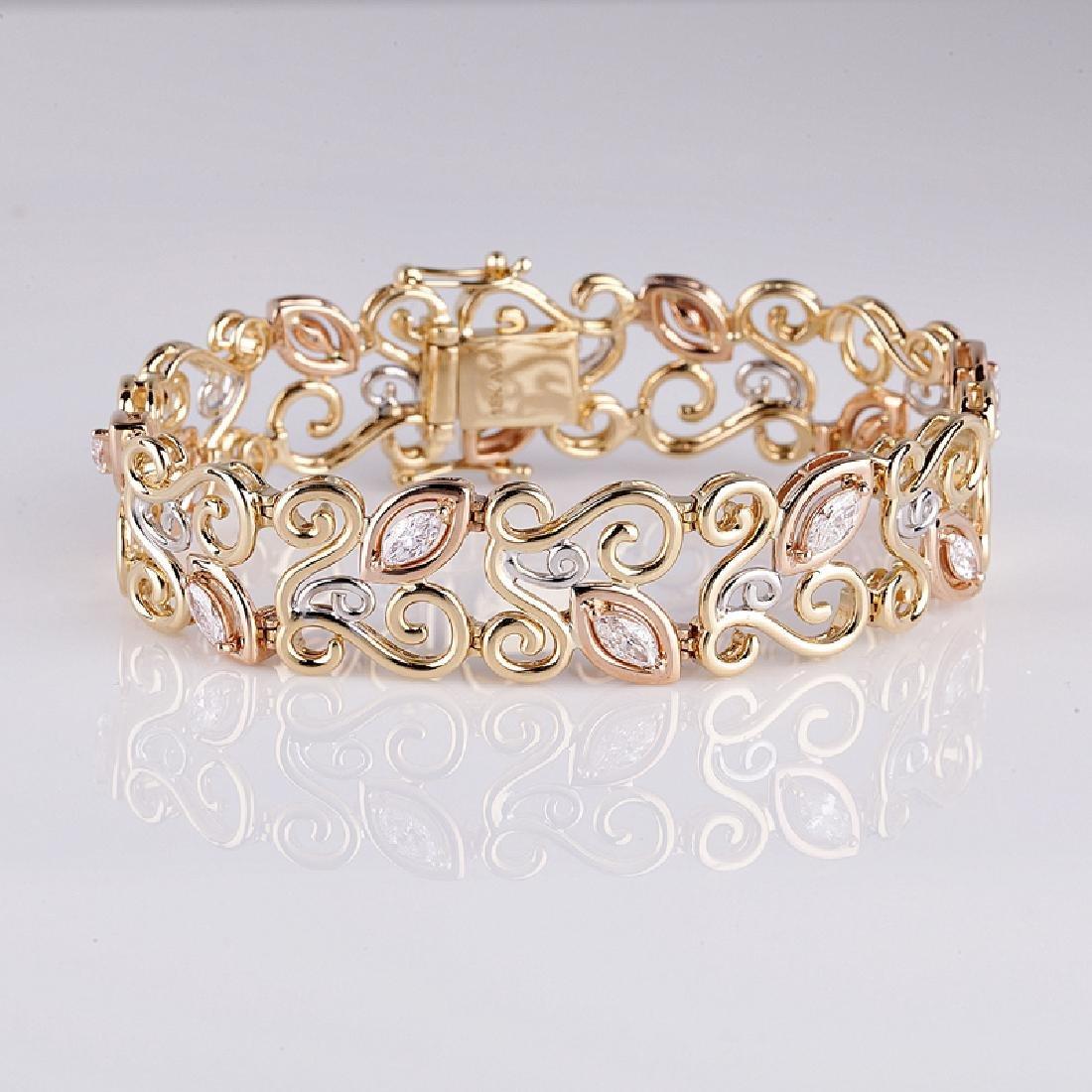 APP: 22.6k *Fine Jewelry 14 kt. Tri Tone Gold, And
