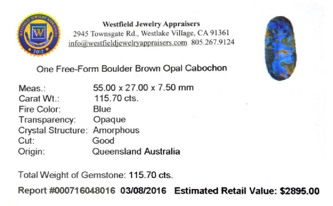 APP: 2.9k 115.70CT Free Form Cabochon Blue Boulder - 2