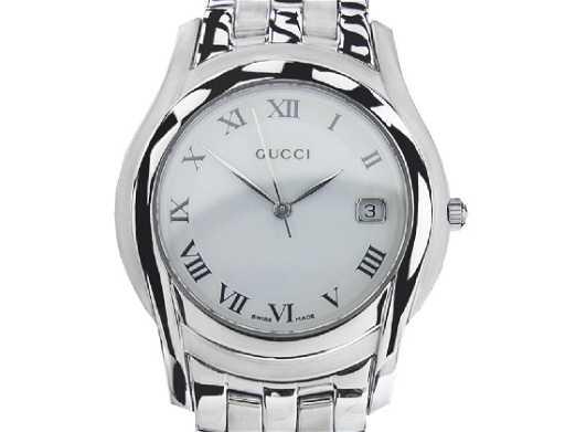 d127e4fc02f  Vintage Swiss Gucci 5500M Stainless Steel Quartz Watch