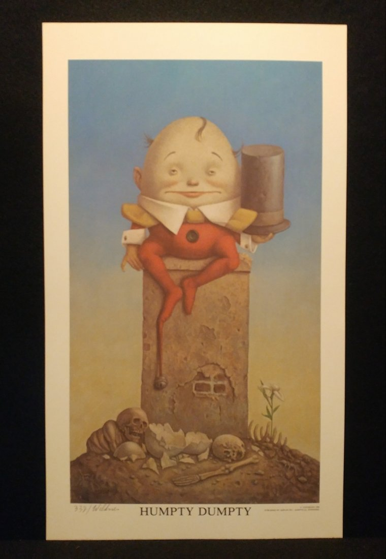 Werner Wildner Humpty Dumpty Signed Numbered Print