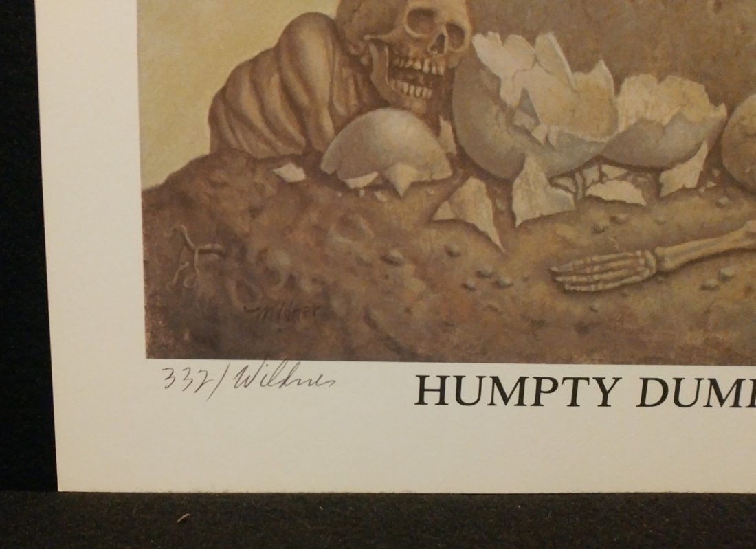 Werner Wildner Humpty Dumpty Signed Numbered Print - 2