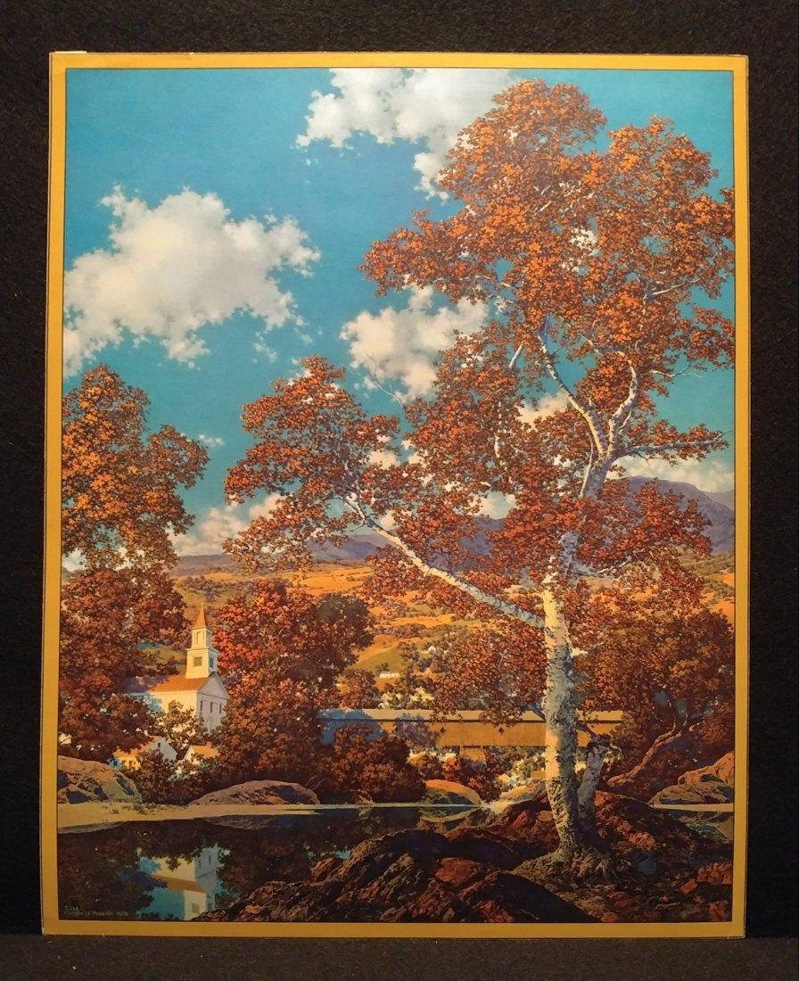 Maxfield Parrish Early Autumn Hand Signed Print 1936