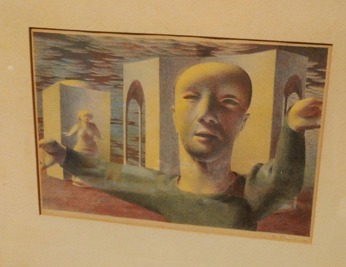 D. Stuart Surrealist Man Signed Numbered Print 1948 - 2